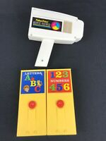 2014 FISHER PRICE Vintage Inspired Movie Viewer +2 Cartridges LETTERS+ NUMBERS