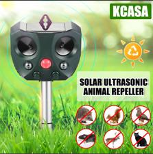 KCASA Solar Ultrasonic Animal Repeller Motion Sensor Pest Animal Bird Repellent