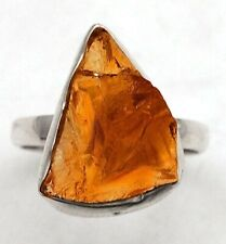 Natural Citrine 925 Sterling Silver Ring Jewelry Sz 7, EA18-8