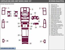 CHRYSLER 300 HEMI FIT 2005 2006 2007 W/O NAVIG INTERIOR WOOD DASH TRIM KIT 27PS