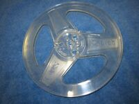 "One Scotch clear  Empty 7""  Tape Take up Reel with Box"