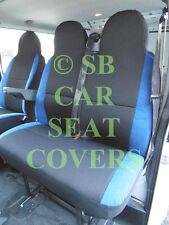 MERCEDES SPRINTER VAN SEAT COVERS ANTHRACITE CLOTH + NEON BLUE TRIM