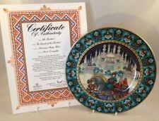 Villeroy Boch Russian Fairy Tale Plate + Cert & Box In Search Of The Firebird