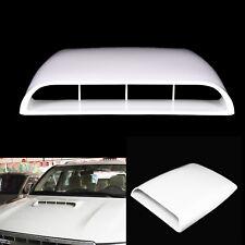 White Universal Auto Decorative Air Flow Intake Hood Scoop Vent Bonnet Cover AZ