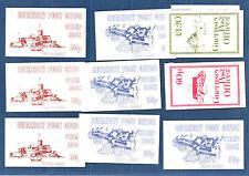 GUERNESEY  timbre  lot de  9 carnets différents   neufs  **