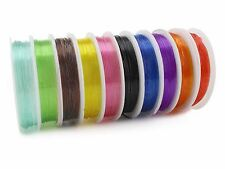 Mixed Color Crystal Beading Thread - 1mm - 60 Yds - Elastic Stretch String Cord