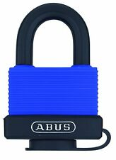 Abus 06111 70Ib/45 Kd Blue All Weather Solid Brass Body with Cover and Padlock