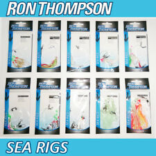 5 Ron Thompson Hokki Feather Rigs Sea Fishing Line Boat Rod Lures Mackerel Cod 5 Mixed