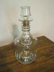 Vintage Collectible Glass Carafe - 1870 - Stopper with Cork