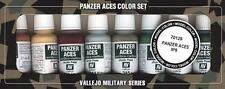 Vallejo Panzer Aces No #6 Paint Set x8 Military Crew Uniforms 17ml VAL 70129