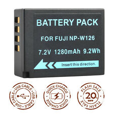 Battery for FUJI Fujifilm BC/NP-W126 FinePix HS30EXR HS33EXR X-Pro1 X-E1 XA1 XT1
