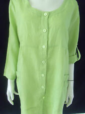 MEREDITH Womens 3/4 sleeve Lime Green top size 12