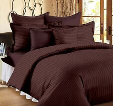 Solid Dark Brown Egyptian Cotton King Size Bed Sheets With 2 Pillow Covers