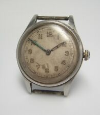 Vintage 1940's all steel military type Watch wristwatch W 61