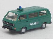 "VW Typ 2 Kombi Bus ""Polizei"" in grün, Wiking, 1:87, o.OVP, schön koloriert"