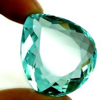 EGL Certified Natural Apatite Birthstone 47.50 Ct Pear Cut Loose Gemstone