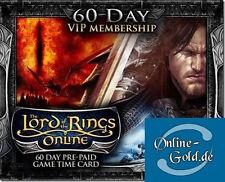Der Herr der Ringe Online 60 Tage VIP Gamecard Code - LOTRO 60 Tage VIP Gamecard