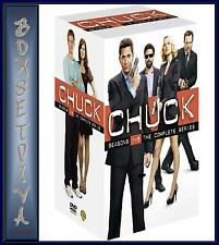 CHUCK - COMPLETE SERIES 1 2 3 4 & 5 *BRAND NEW DVD BOXSET*