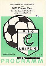 DDR-Liga 80/81 BSG Chemie Leipzig-BSG Chemie Zeitz 18.10.1980