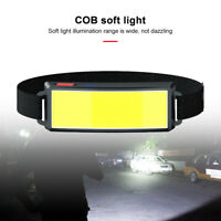 3 Modes USB Rechargeable Headlamp COB LED Headlight Waterproof Head Torch Lamp