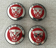 GENUINE JAGUAR RED ALLOY WHEEL CENTRE CAP BADGES BRAND NEW C2D47107 X Type S Typ