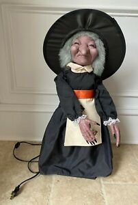 """Vintage Telco Halloween Animated Witch Motionette Figure 24"""" No Pumpkin Or Broom"""