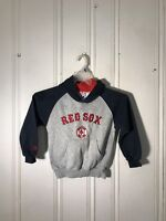 BOSTON RED SOX BOYS HOODIE GRAY AND BLUE LONG SLEEVE GRAPHIC