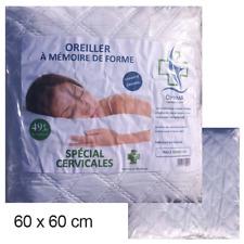 Oreiller de lit a mémoire de forme pharmaceutique optima 60x60cm SP CERVICALES