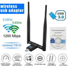 USB3.0 antena adaptador WLAN de banda dual 2.4/5.8ghz 1200mbps wifi Wireless hot