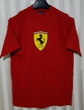 Mens Red T-Shirt Ferrari Car Emblem Casual Official licensed Size Small