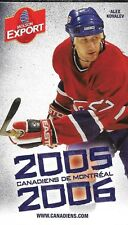 2005-06 NHL HOCKEY SCHEDULE - MONTREAL CANADIENS #27 ALEXEI KOVALEV