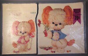 Vintage Meyercord Decals Yarn Puppies Nursery Decorations 1400A