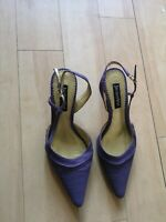 Ladies JACQUES VERT Shoes Size 37 4 UK Purple Lilac Small Heel