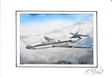 KUNSTDRUCK - Air France, Sud-Aviation Caravelle.