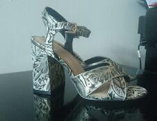 New Look Women's Baroque Style Cross Strap Block Heels UK Size 8