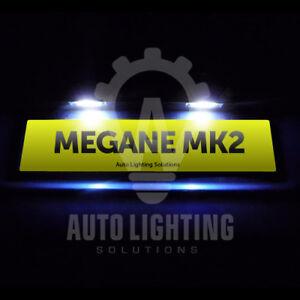 For Renault Megane MK2 2003-2008 White LED Number Plate Light Bulbs Upgrade