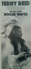 """TERRY REID rare orig 1979 UK print ad, """"ROGUE WAVES"""" LP,  7x16 inches"""