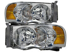 02-05 Dodge Ram 1500 / 2003-2005 2500-3500 Headlights Headlamps Pair Set New