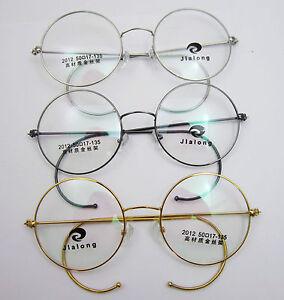 50mm Round Vintage Antique Wire Rim Eyeglass Reading Glasses Reader +0.25 ~ +5.0