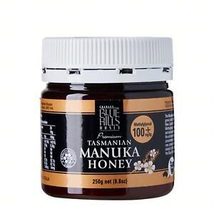 Manuka  honey,   (MGO 100+) Blue Hills Tasmanian, 250gm jar, free shipping