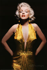Marilyn Monroe (Gold Dress, Tinted) Movie Poster Print Poster Print, 24x36