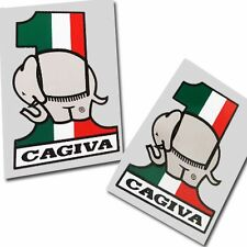 Cagiva Italian elephant number 1  Motorcycle graphics  decals x 2PCS