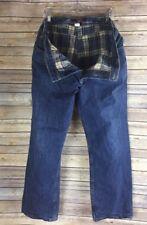 Eddie Bauer Relaxed Fit Flannel Lined Medium Wash Denim Jeans Men's Sz 38 x 30