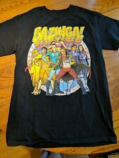 The Big Bang Theory BAZINGA SUPERHERO T-Shirt S SMALL NEW Licensed Official
