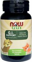 Pet G.I. Support for Dogs and Cats, NOW, 90 chewable tablets