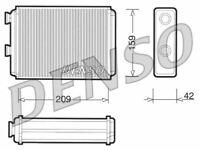 DENSO HEAT EXCHANGER, HEATER MATRIX FOR A FIAT DOBLO MPV 1.9 88KW