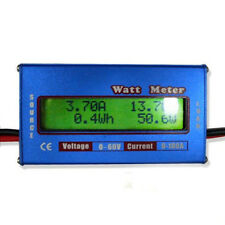 DIGITAL LCD WATT METER POWER VOLT AMP DC RC BOAT BATTERY ANALYZER 60V 100A