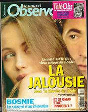 ▬►Le Nouvel Observateur 1527 de 1994 Emmanuelle Béart_Eddy Mitchell_Omar Raddad