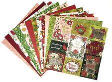 12x12 Cardstock Scrapbook Paper Lot 12 sheets Fancy Fun Christmas Prints C91