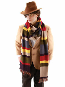 Doctor Who BBC Fourth Doctor Time Lord Deluxe Mens Costume Long Knit Scarf 12'
